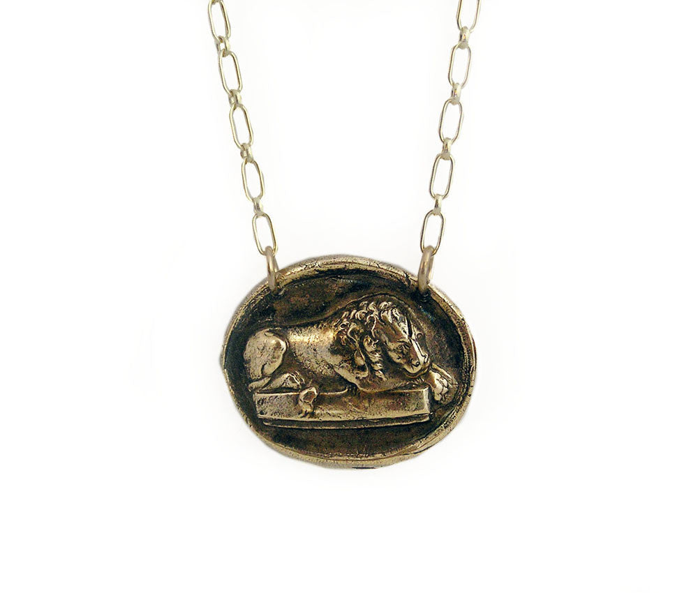 Strong, But Gentle - Sleeping Lion Necklace