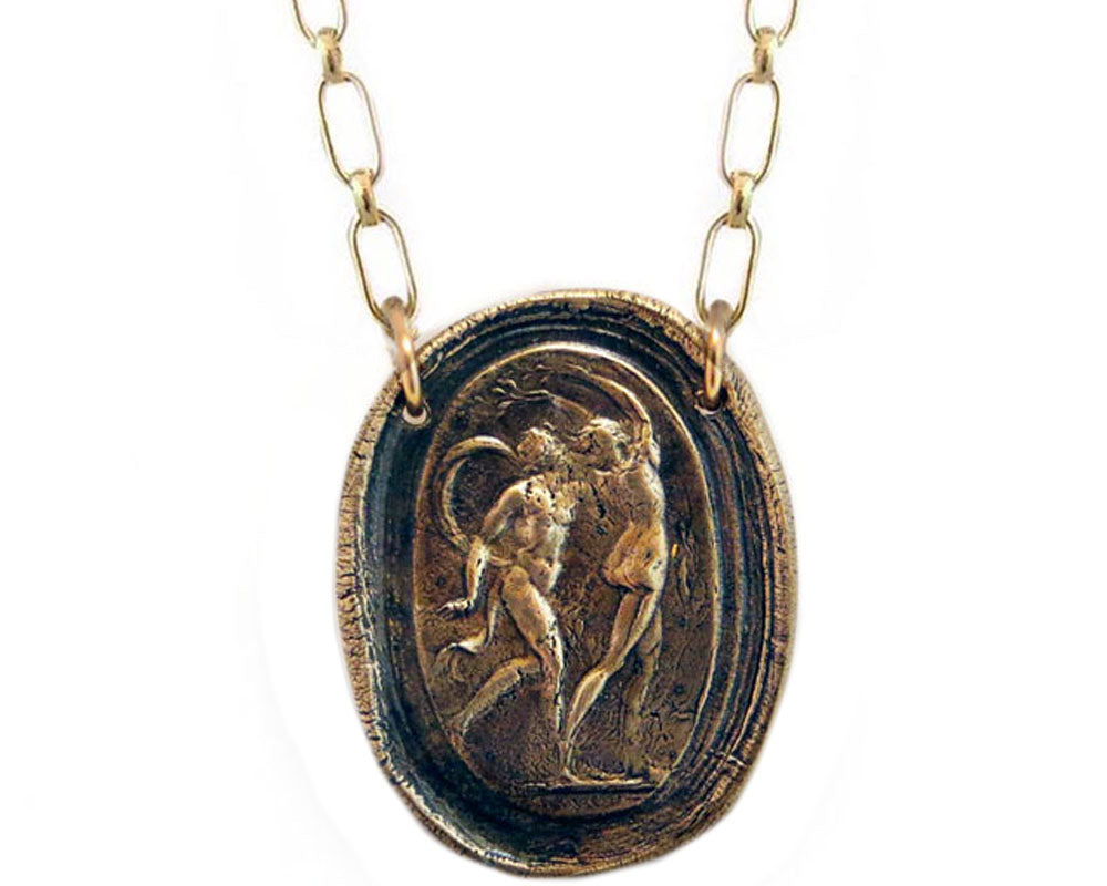 Apollo and Daphne Wax Seal Charm Necklace