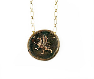 Valor & Bravery - Rampant Gryphon Necklace