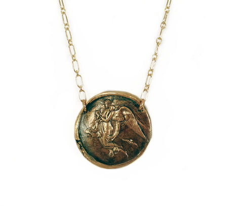 Nyx -Goddess of the Night Wax Seal Charm Necklace