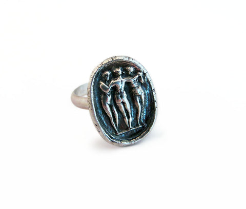 Charm, Beauty and Creativity -Three Graces Wax Seal Ring