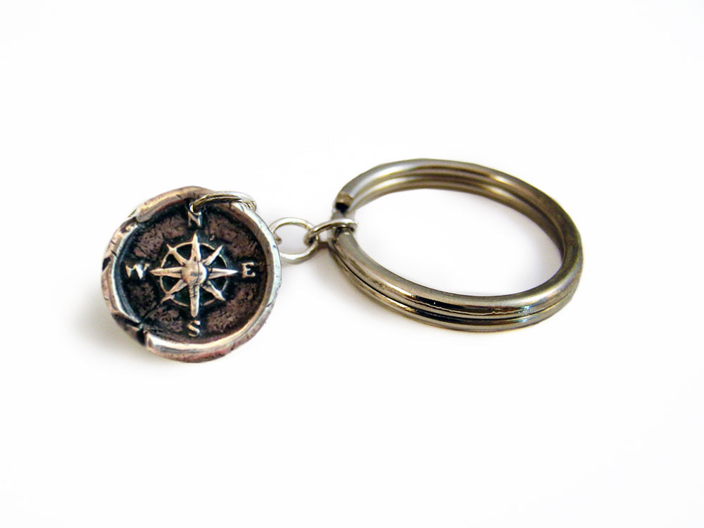 Need of Direction - Compass Wax Seal Charm Key Chain
