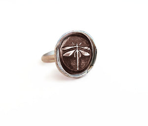 Living Life To The Fullest - Medium Dragonfly Ring