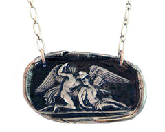 Everlasting Love - Cupid and Psyche Wax Seal Charm Necklace