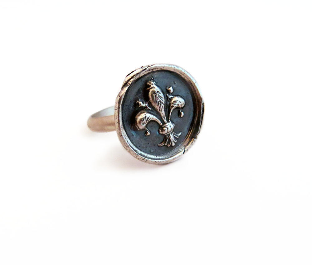 Faith, Wisdom and Valor - Fleur-De-Lis Ring