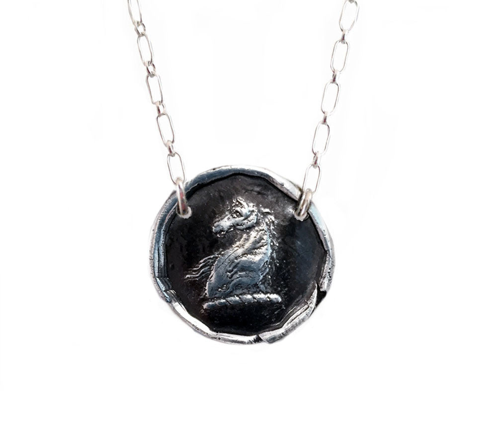 Power, Freedom and Strength - Horse Head Livery Necklace