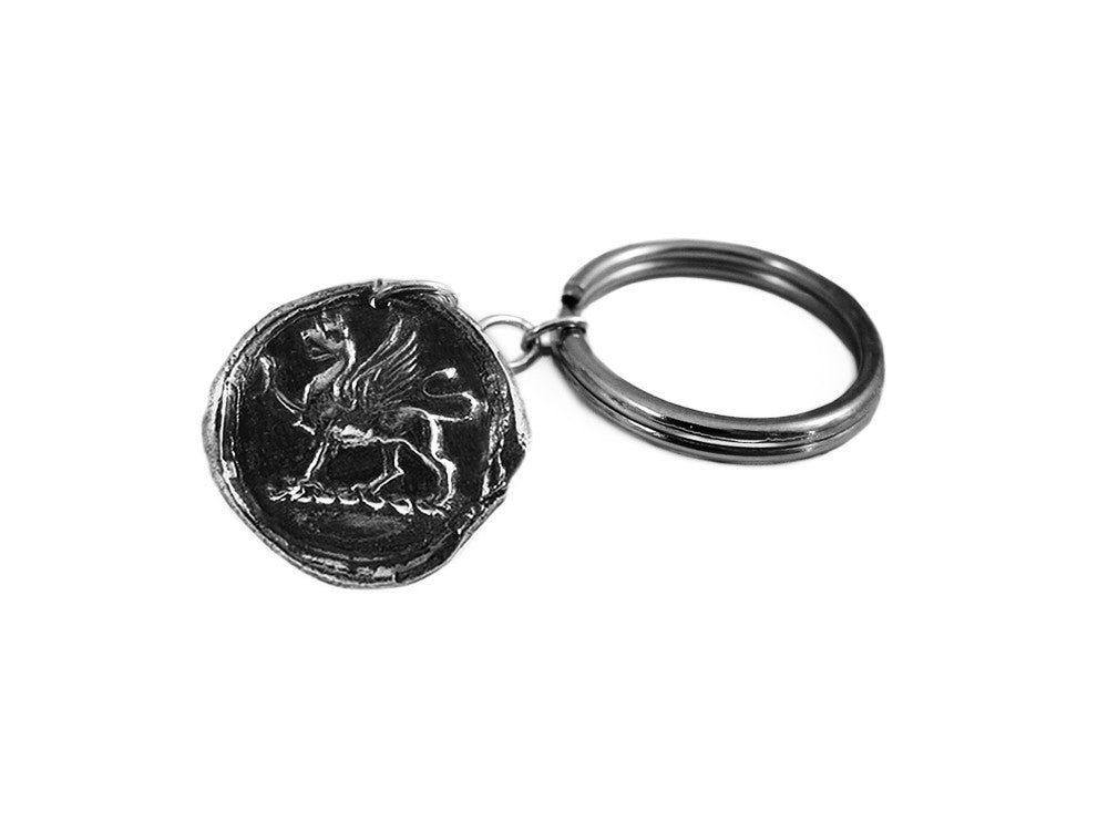 Valor & Death-Defying Bravery - Gryphon Wax Seal Charm Key Chain