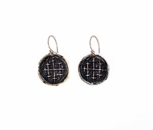 Medieval Jerusalem Cross Earrings