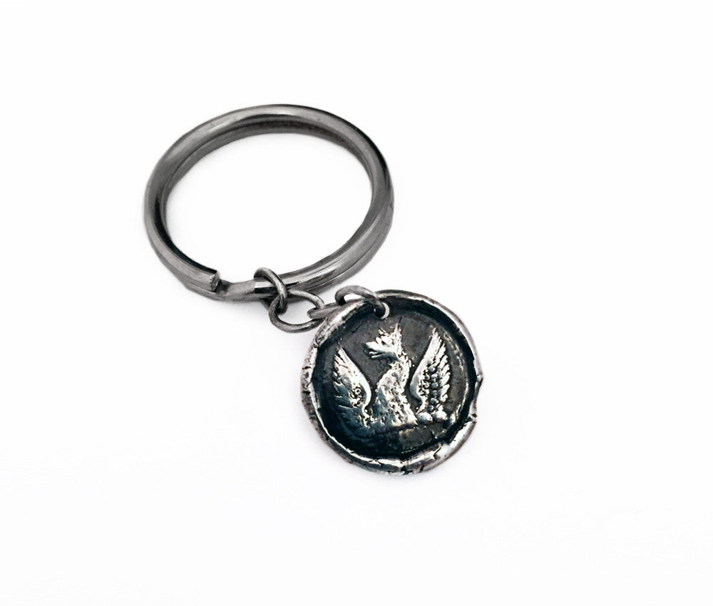 Rebirth and Strength - Phoenix Key Chain
