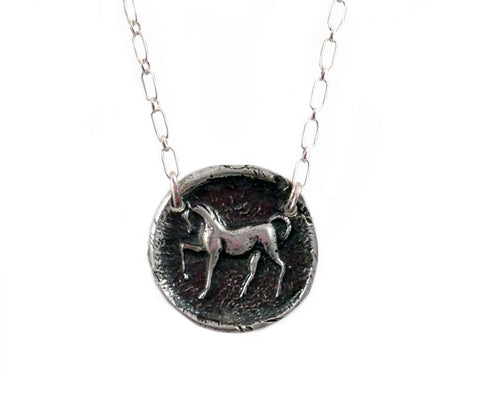 Stately & Docile - Prancing Horse Wax Seal Charm Necklace