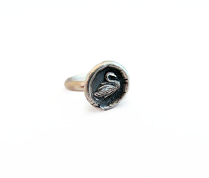 Grace and Beauty - Tiny Swan Ring