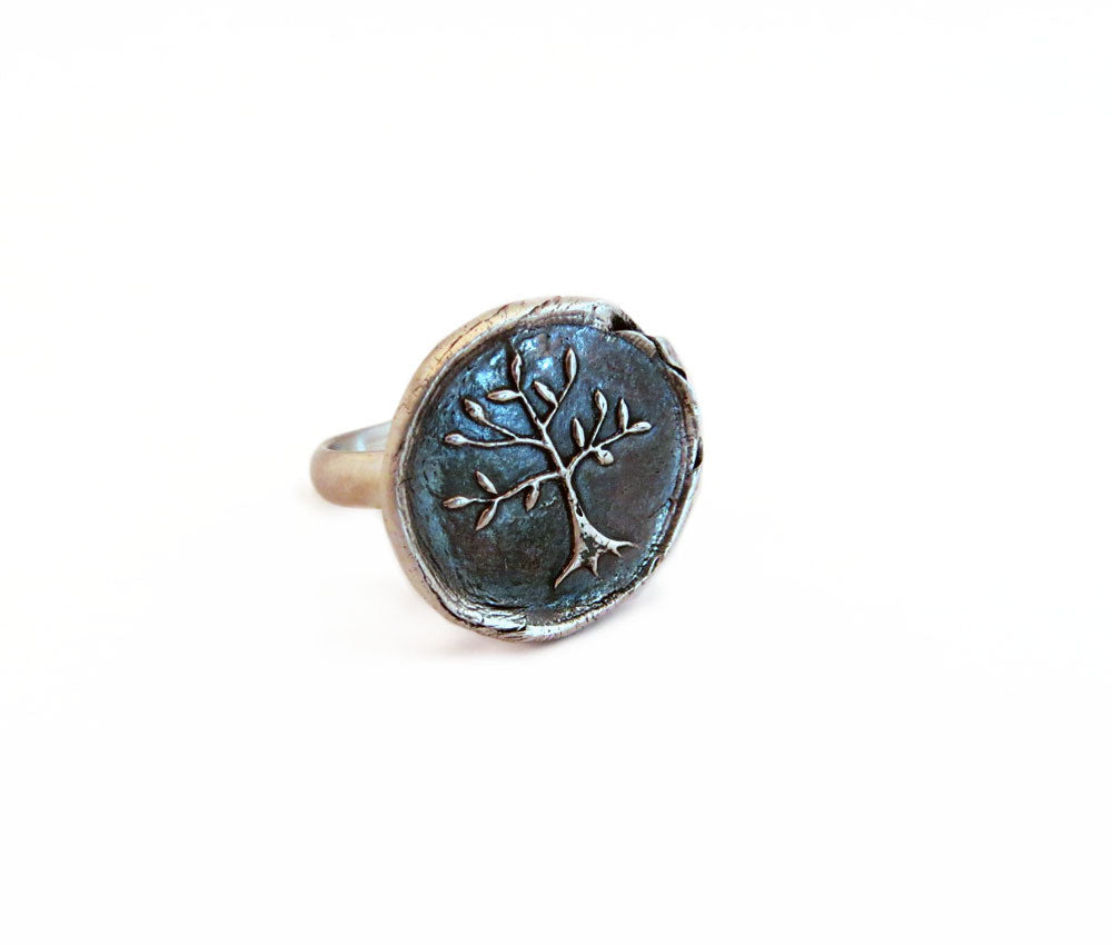 Wisdom, Protection and Strength - Tree of Life Ring