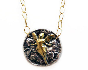 Hope of a New Day- Gold & Silver Eos the Goddess of the Dawn Necklace