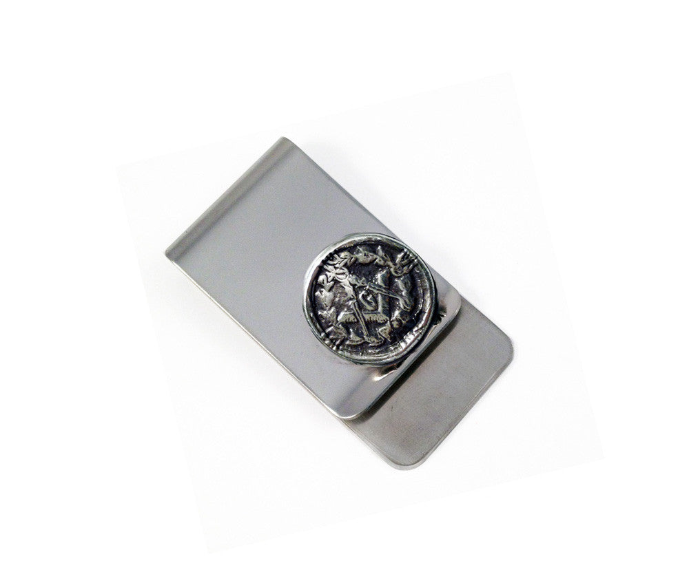Masonic Compass and Square Wax Seal Charm Money Clip