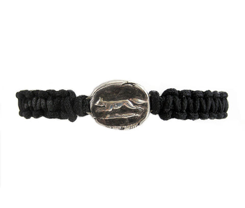 Achieve Your Desires – Running Fox Wax Seal Charm Men's Bracelet