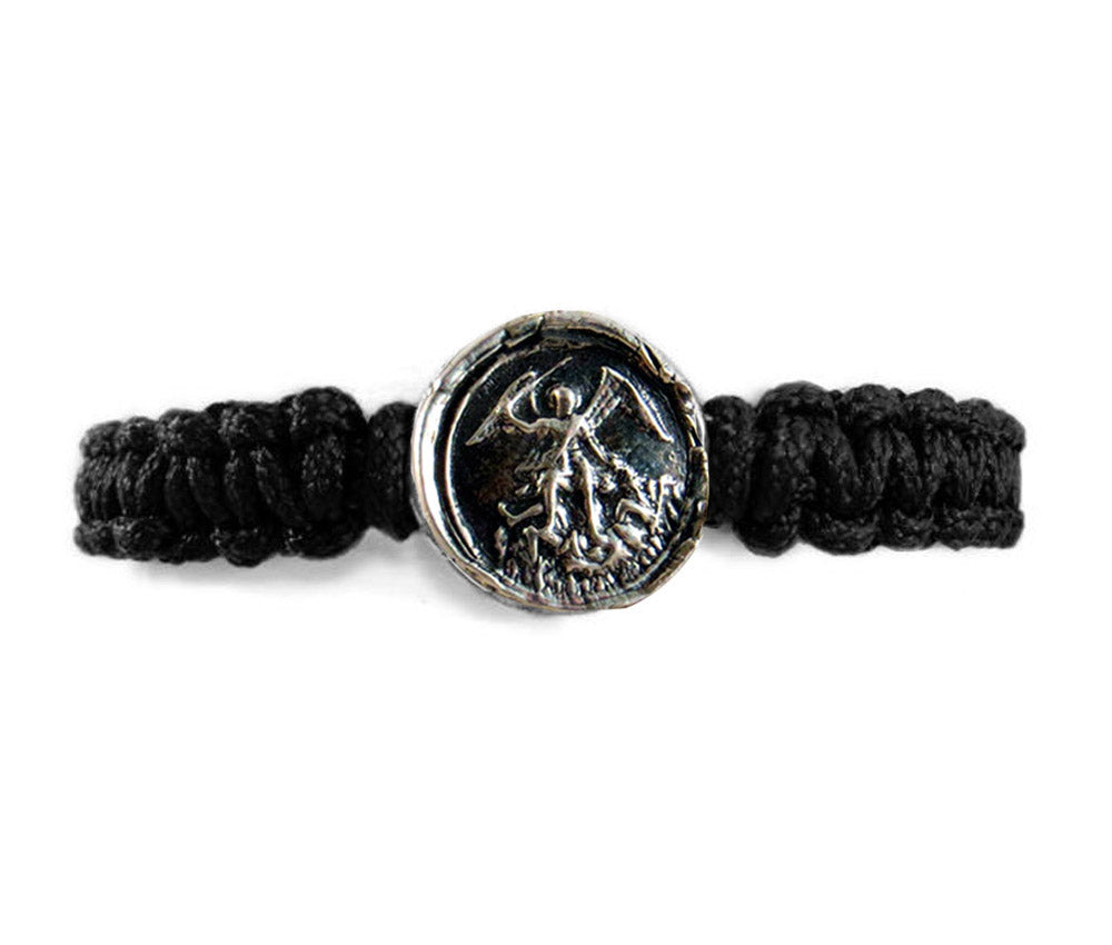 Patron Saint of Police and Soldiers - St. Michael the Archangel Men's Bracelet