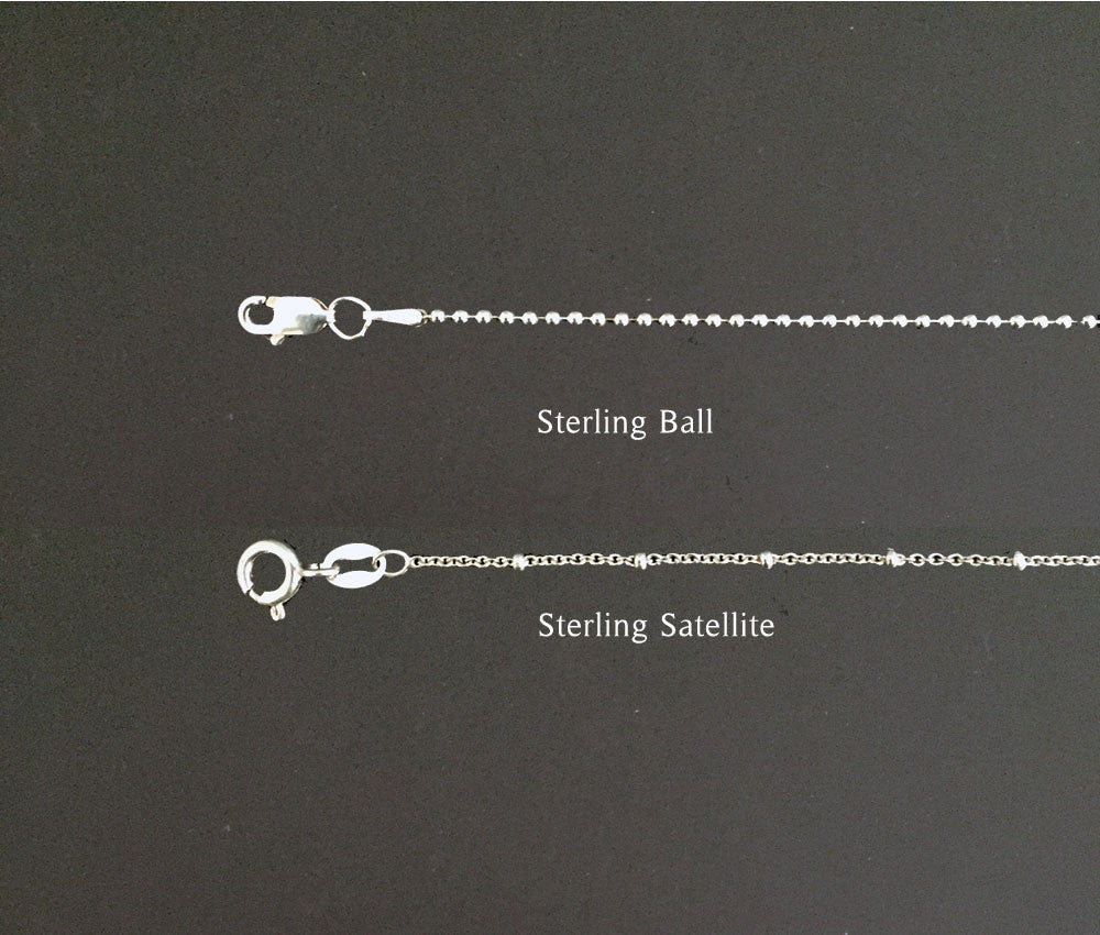 Sterling silver light weight chain