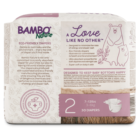 Abena Bamboo Nature  Disposable Baby Diapers Eco Friendly