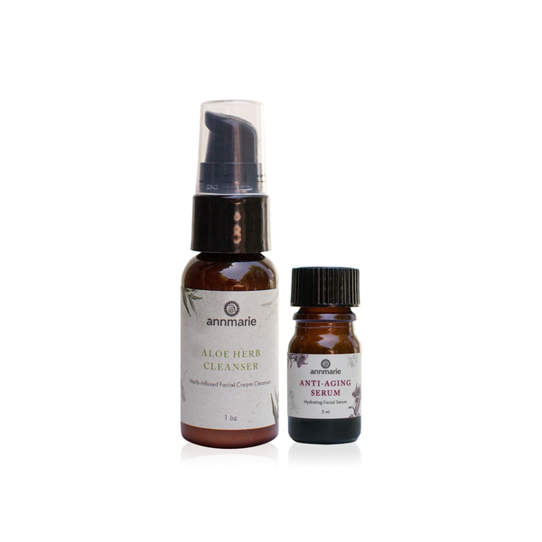 Aloe Herb Cleanser & Anti-Aging Serum Travel Duo