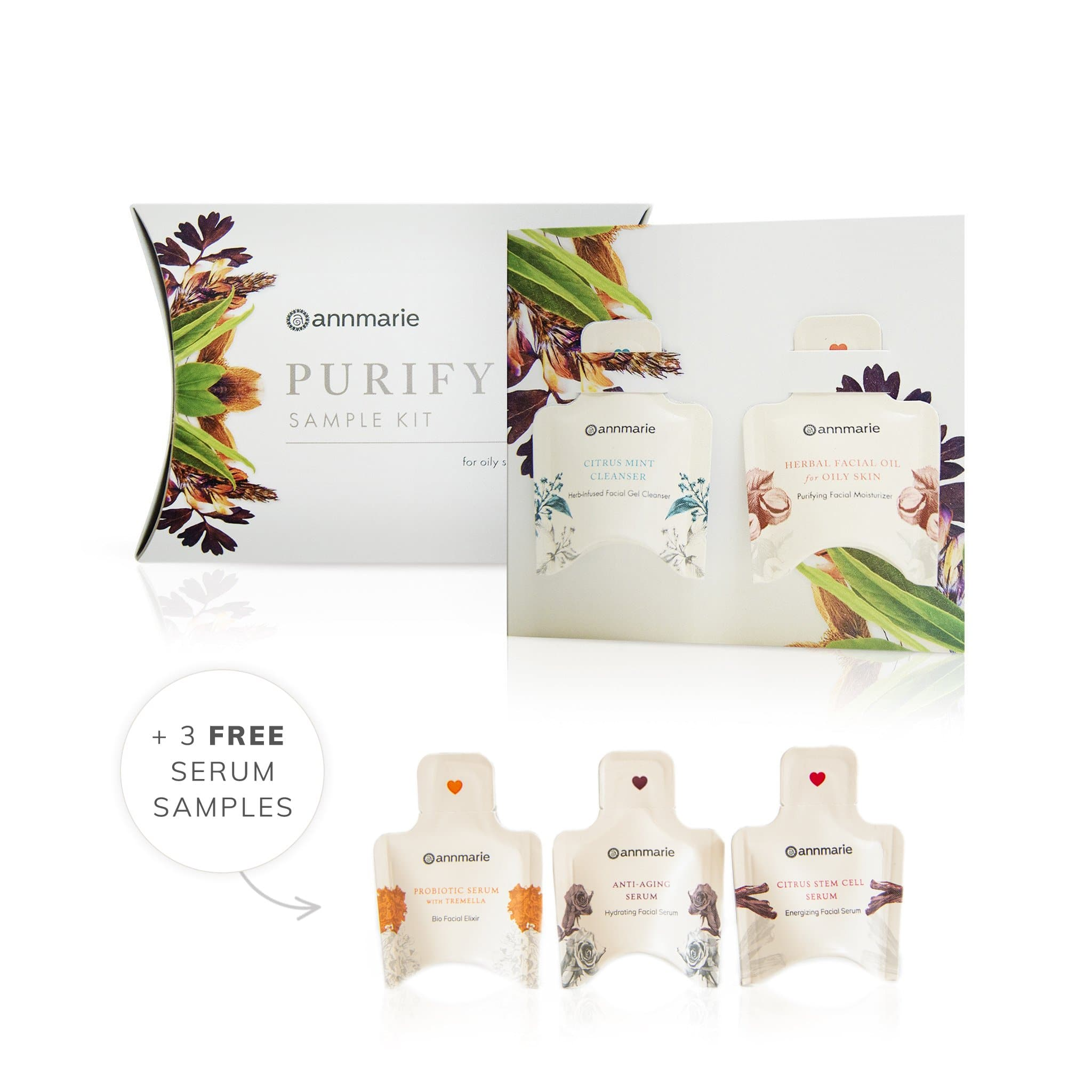 Sample Kit & Serum Trio - Purify for Oily Skin