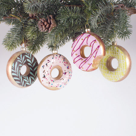 ORNAMENT DONUTS SET OF 4