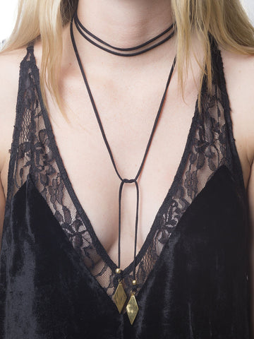 Voltage Gold Diamond Bolo - Gold/Black