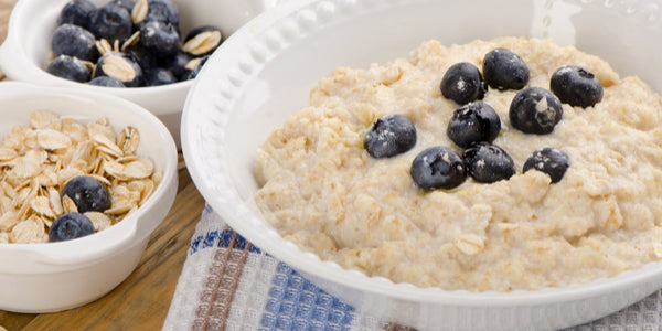 Lemon Poppy Blueberries and Cream Oats