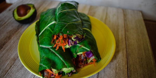 Keto Vegan Collard Green Wrap