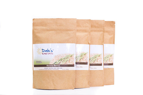 Dales Raw Oats - Banana Walnut - 4 Bags