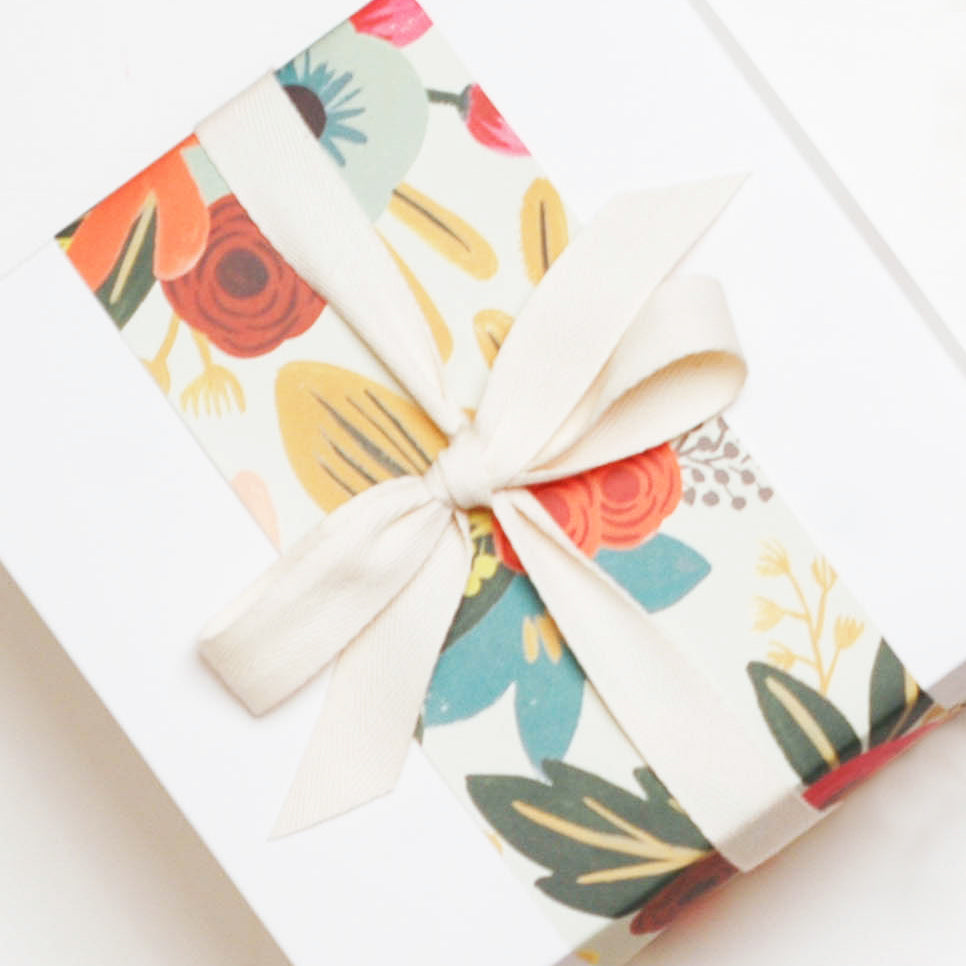 Rifle Paper Co. Mint Floral Printed Paper Band
