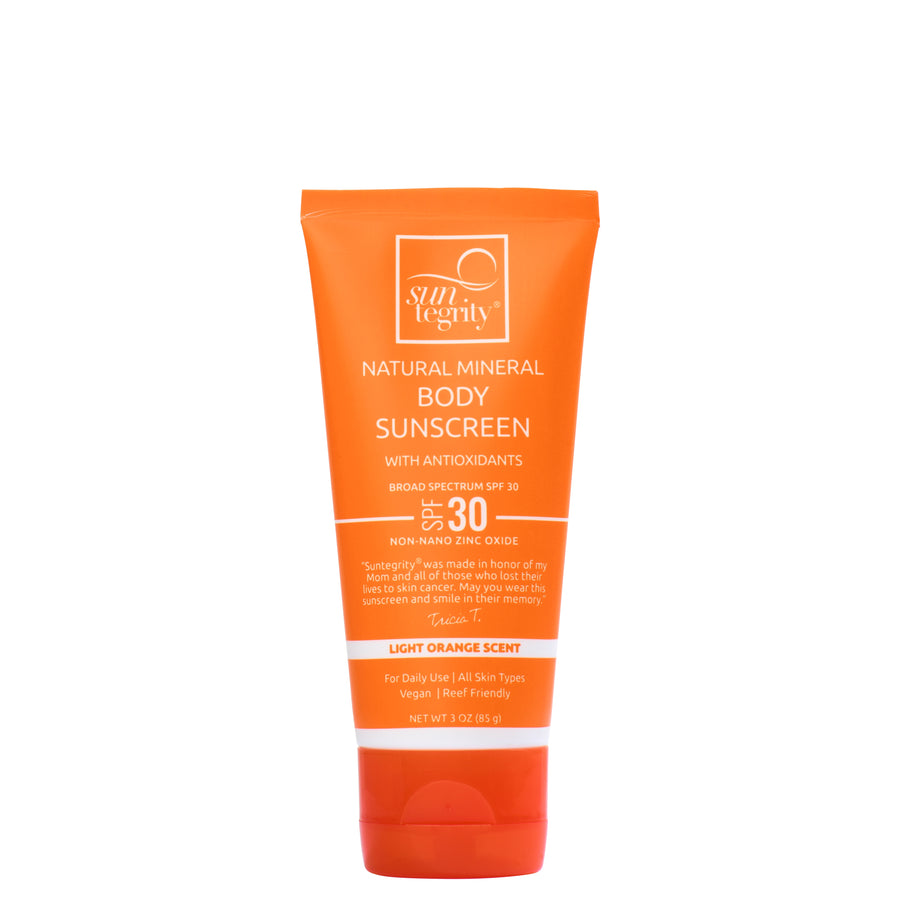 Natural Mineral Sunscreen for Body - Broad Spectrum SPF 30 - 3oz