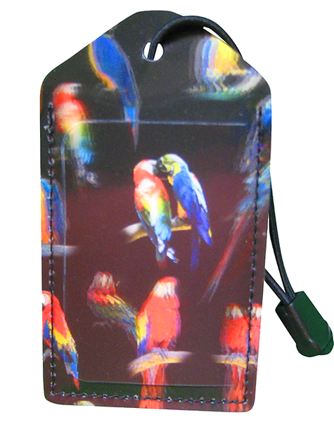 Luggage Tag:Jungle-Parrots