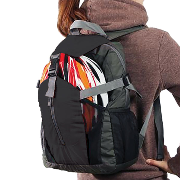 Backpack folds into small pouch.