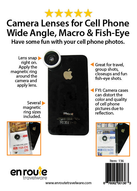 Phone Lenses: Telephone, Macro, Fisheye Set