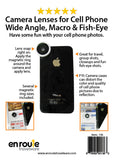 Camera lenses for your phone: Telephoto, Macro, Fisheye Set.  (#136)