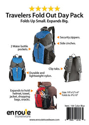 Backpack (#158) (Foldable) - En Route Travelware