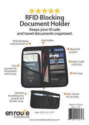 Document Holder (#170) Protects against electronic theft.