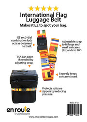 Luggage Belt with Lock (#143) - En Route Travelware