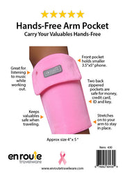 Arm Pocket Pink. Show your support.