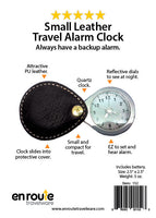Small Leather Travel Alarm (#152)