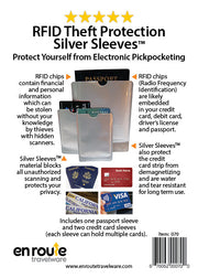 Passport and Credit Card Sleeves (#70) Electronic Theft Protection - En Route Travelware