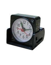 Travel Alarm Clock. (#161)  Light, Alarm and Snooze button. - En Route Travelware
