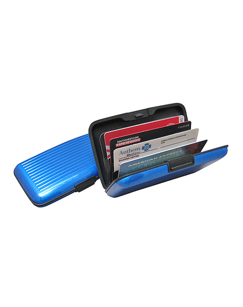 RFID Aluminum Card Case.  Aluminum protects against electronic identity theft.