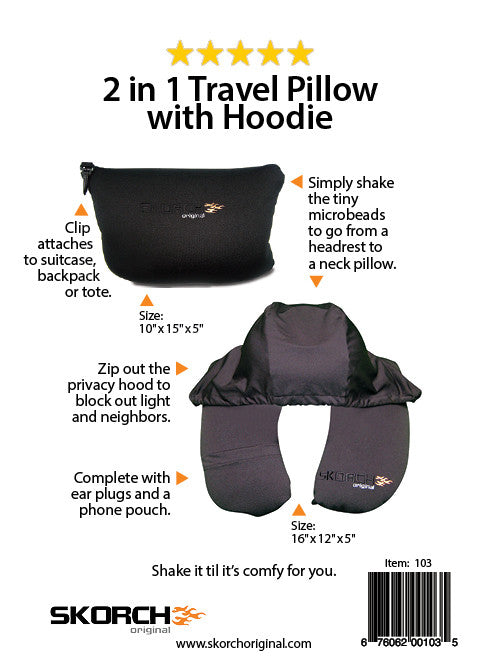 The BEST 2 in 1 Travel Pillow With Hoodie
