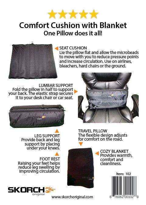 Travel Pillow Comfort Cushion with Blanket (#102) - En Route Travelware