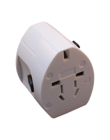 Adapter for worldwide travel with two USB ports, Sale!