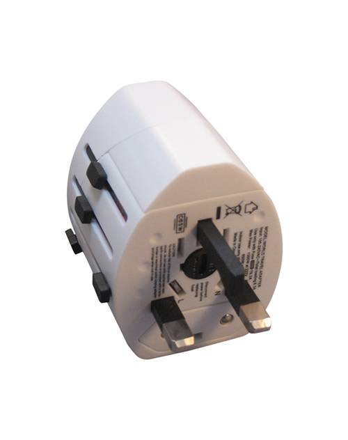 Worldwide Adapter with two USB ports