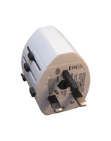 International Plug Adapter with 2 USB ports (#149)