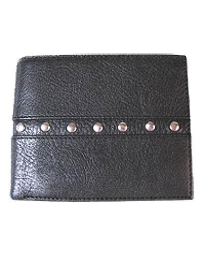 Bi Fold Wallet. (#104)  Protects against electronic pickpocketing.  All leather.