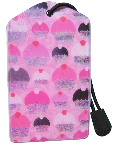 z Luggage Tag: Pink Cupcake - En Route Travelware